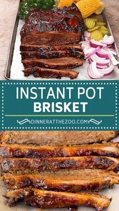 This Instant Pot brisket is beef coated in a homemade spice rub, then pressure cooked with BBQ sauce until perfectly tender. A hearty and delicious dinner option that's packed with flavor and is super easy to make. Homemade Barbecue Sauce, Homemade Spices, Slow Cooker Italian Beef, Potted Beef Recipe, Friend Recipe, Keto, Best Instant Pot Recipe, Delicious Dinner Recipes, Meat Recipes