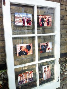 Turn an antique window pane into a picture frame. It's easy, inexpensive, and meaningful. Created by @Nikki Stager, @Amanda Cromwell & Myself {via My. Daily. Randomness.}
