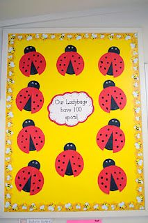 100 Ladybug Spots-good idea for the 100th day of school.