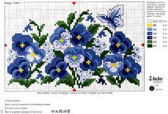 ♥Meus Gráficos De Ponto Cruz♥: Quadros: Flores e Borboletas em Ponto Cruz