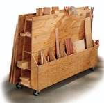 free plans woodworking resource from HandymanClub  - lumber rack,storage,rack,workshops,sheet goods,lumber cart,DIY instructions,free woodworking plans,do it yourself,woodworkers,how to build