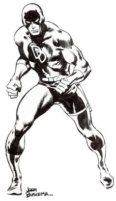 Daredevil by John Buscema – Comic Book Artists, Comic Artist, Comic Books Art, Marvel Comic Universe, Marvel Dc Comics, Marvel Heroes, Marvel Comic Character, Character Art, Ink Illustrations