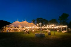 Backyard Sperry Tent Reception in Pawcatuck, Connecticut