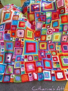 Babette blanket. Similar to what I'm making now. Would love to do a bright one like this one day.