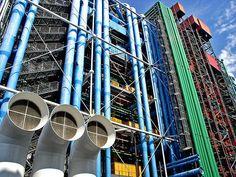 Centre Pompidou, Paris, France. Renzo Piano and Richard Rodgers.