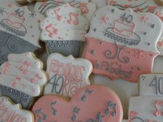 Fabulous 40 Birthday Cookies by FlourDeLisShop on Etsy, $72.00
