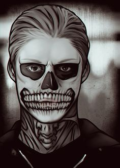 how to draw tate from american horror story, evan peters