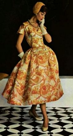 This is an example of what a woman living in the 1950's might wear.