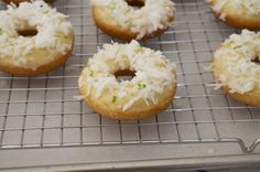 Coconut-Lime Baked Donuts | Flavor the Moments