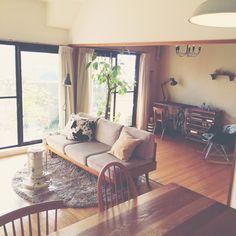 noriさんの、リビング,観葉植物,ソファー,IKEA,unico,アラジンストーブ,ゴムの木,ACUTUS,のお部屋写真