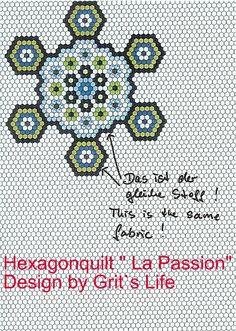 Grit's Life: 2.Teil Hexagonquilt La Passion