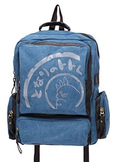 Studio Ghibli My Neighbor Totoro Canvas Backpack School Shoulder Bag (Blue) Bonamana http://www.amazon.com/dp/B00URI2G70/ref=cm_sw_r_pi_dp_gm5Rwb0S850BV