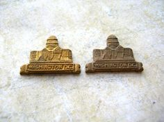 Vintage Washington DC Brass Plaques  Brass by 2VintageGypsies