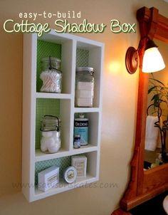 DIY Cottage Wall Shadow Box Shelving
