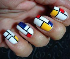 mondrian nails - Google Search