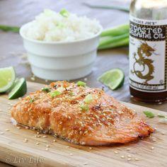Asian Sesame Salmon - and Mommy's Secret Helper #recipe #salmon @livlifetoo