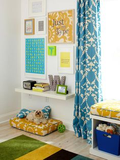 this site has tons of great decor ideas what a great nook for a kids room that incorporates a. Black Bedroom Furniture Sets. Home Design Ideas