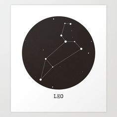 Leo Star Constellation Art Print by Clarissa Di Nicola - $18.00