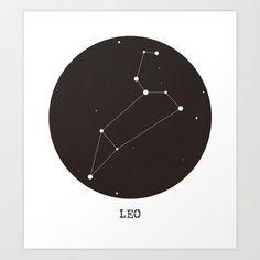 Leo Star Constellation Art Print by Clarissa Di Nicola - $18.00
