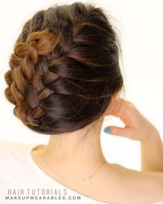 How to: French Braid Tuck Your Hair in 5-Minutes | Hairstyles