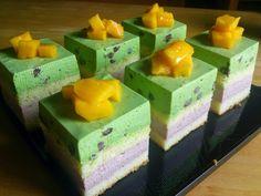 免烤绿茶红豆芝士蛋糕