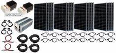 solar panels 10 000 watt solar generator HYBRID   16 Solar Panel System