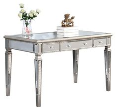 One Kings Lane - Reflections of Style - Gabriel Mirrored Desk