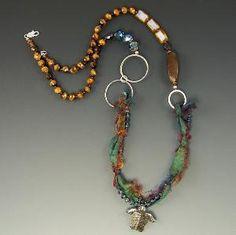 Turtle Necklace Sea Turtle Necklace Sari Silk by francis