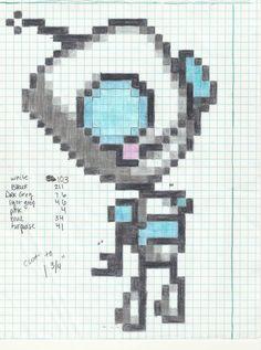 Pixel Quilt: Invader Zim GIR Chart