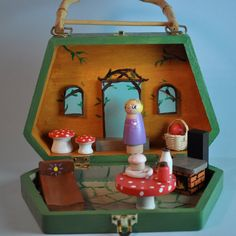 Wooden Doll  Fairy House Playbox / Custom by TheEnchantedCupboard, $150.00