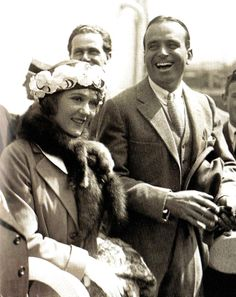 Film stars Mary Pickford and her new husband Douglas Fairbanks