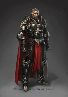 Lord Lancelot (Lans) Tártarus - Black Knights Comander Rico by THENEW ART AGENCY ., via Behance