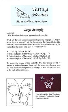 Learn needle tatting - Lada - Picasa Web Albums - Good beginner pattern