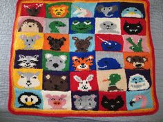 Ravelry: Animal Squares Blanket pattern by Julie & The Knits