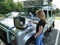 Land Rover Defender chick