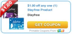 Sweet Coupon Deals -Get deal on Stayfree at Walmart get a $5.00 e-Gift card -www.sweetcoupondeals.com for details