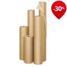 Papier kraft naturel en rouleau qualité industrielle 90 g/m² RAJAKRAFT Super