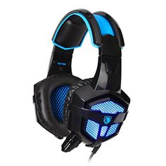 Stereo Gaming Headphone Headset, Sades Plug Over Ear Wired Headset Headband Gaming Earphone Bass Noise Canceling Isolating Headphones with Mic Breathing Colorful LED Light for PC Gamer Gaming Tablet Laptops/mac Gaming Earphones, Gaming Headset, Gaming Computer, Headphones With Microphone, Headphone With Mic, Wireless Headphones, Bluetooth, Pc Gamer, Wrapping