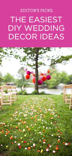 Editor's Picks: Our favorite easy-to-do DIY wedding decor ideas!