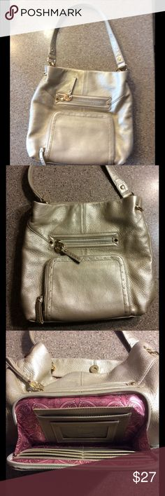 Stone Mountain & Co Gold Leather Purse Never used, in great condition! Stone Mountain & Co. Bags Shoulder Bags