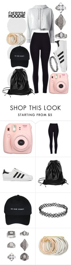 """""""Cute Hoddie style"""" by angel-moony ❤ liked on Polyvore featuring Yves Saint Laurent, adidas, Xenab Lone, Topshop and Odeme"""