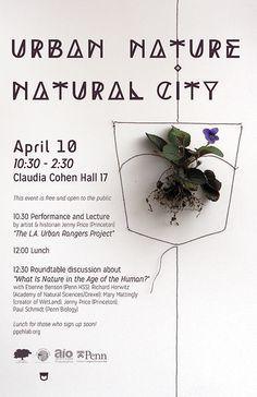 URBAN NATURE / NATURAL CITY - event poster