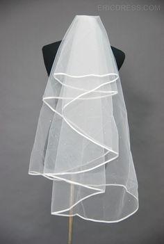 Attractive Edge Wedding Bridal Veil UH81870 Blusher/ Short Veils- ericdress.com 1933044
