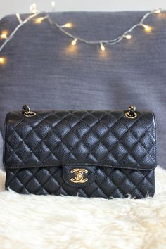 Chanel Medium Classic Flap in Caviar Leather Chanel Handbags, Caviar, Me  Bag, Work 8369ccdbb1