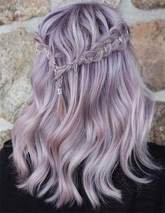 Delightful Ideas of Silver Hair Color pastel hair Fabulous Ethereal Silver Hair Color In 2019 Hair Pale Skin, Violet Hair, Pink Hair, Lilac Hair Dye, Purple Blonde Hair, Gray Hair, White Hair, Hair Color Purple, Cool Hair Color