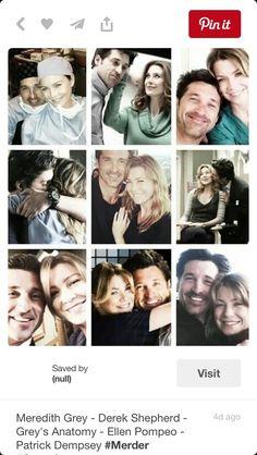 Derek and Meredith Grey's Anatomy Tv Show, Grays Anatomy Tv, Grey Anatomy Quotes, Grey Quotes, Meredith Grey, Best Tv Shows, Best Shows Ever, Favorite Tv Shows, Derek Shepherd