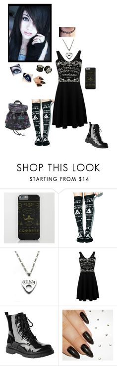 """Ouija"" by dreadful-glassheart ❤ liked on Polyvore featuring Killstar, Moonchild, Gia-Mia and Maxine"