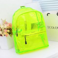 Cheap backpack advertising, Buy Quality backpack sling bag directly from China backpack hunting Suppliers: Neon Color Transparent Candy Crystal School Bag Backpack Women's Backbags Student Shoulder… Cute Mini Backpacks, Girl Backpacks, Pvc Transparent, Neon Accessories, Candy Crystals, Neon Bag, Jelly Bag, Waterproof Backpack, Girls Bags