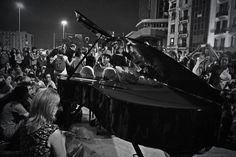 """Speaking Truth to Power today in Turkey . . .  """"Currently listening to this pianist play """"Can You Feel the Love Tonight"""" from The Lion King in Taksim Square as riot police stand behind me guarding a monument, and multiple water cannon trucks and armored police vehicles are parked directly in front of me."""" - Jenna Pope"""
