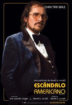 Póster de Christian Bale en Escándalo Americano